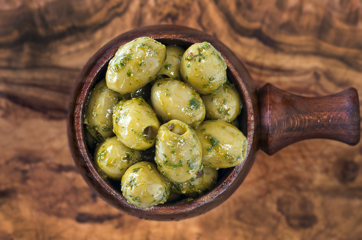Pitted Green Olives with Chermoula